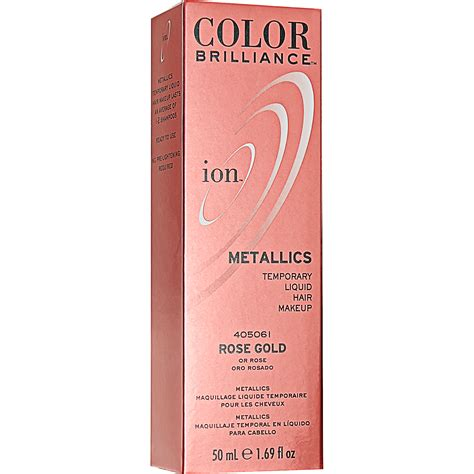 which hair color from sallys rose gold ion color brilliance metallics rose gold