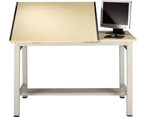 Mayline Drafting Tables Mayline Ranger Steel 4 Post Split Top Drafting Table Tiger Supplies