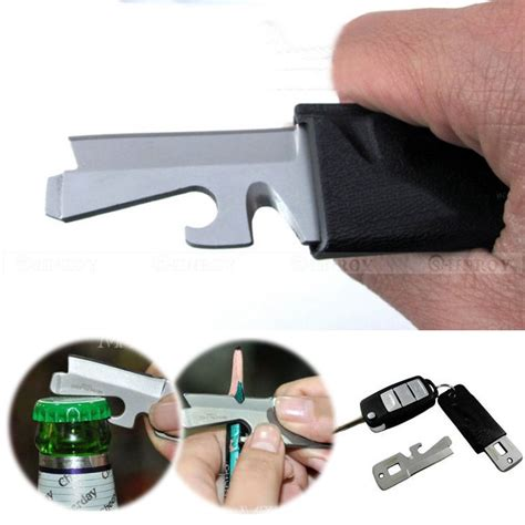 Pocket Edc Multifunction Screwdriver Survival Tool 5 in 1 mini stainless steel multi purpose edc pocket survival tool screwdriver keyring in
