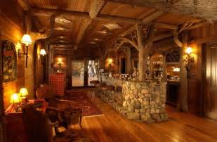 Bar In Family Room Bar Rustic Family Room Minneapolis By Gabberts