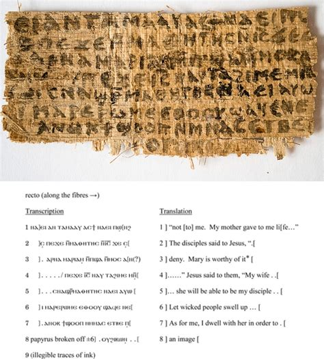 proof jesus was married found on ancient papyrus that the gospel of jesus wife papyrus fragment found