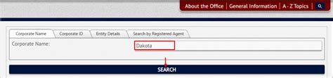 Sd Search South Dakota Business Entity And Corporation Search Sd Of State Sos