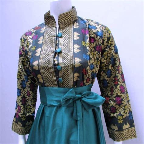 Baju Gamis Batik Modern 24 koleksi gamis batik modern terbaru 2017 2018 gambar busana muslim 2018