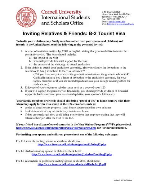Visa Letter From School sle invitation letter for spouse visa australia