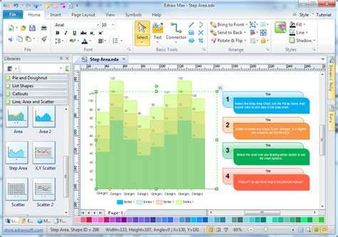 software for graphs area graph charting software