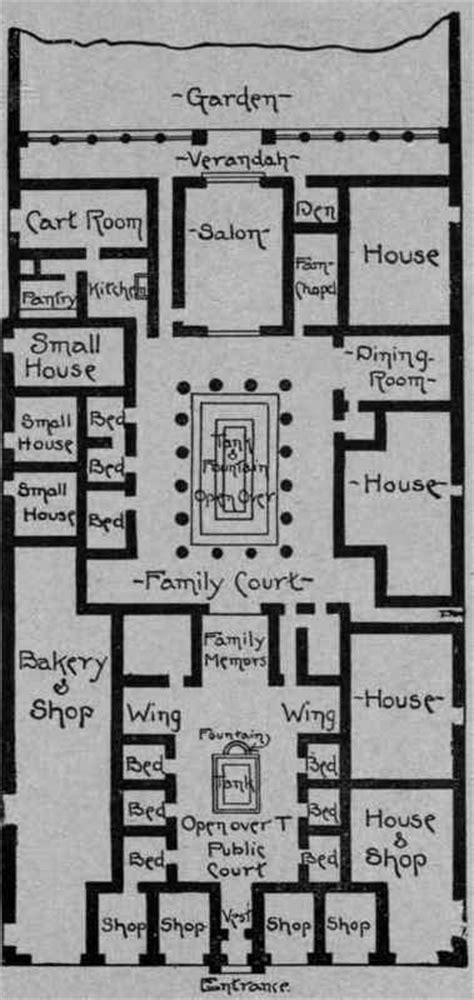 roman domus floor plan roman house plans house design
