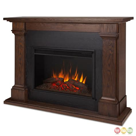 Oak Electric Fireplace Callaway Grand Led Electric Fireplace In Chestnut Oak 63x48 5100btu