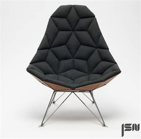 design chairs jsn design assembles diamond shaped tiles into chair