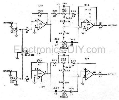 bass treble circuit diagram bass treble tone circuit