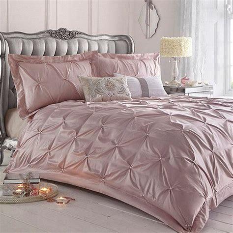 star  julien macdonald pink ruched rosette bed linen