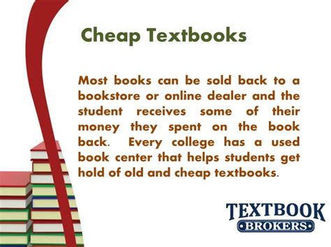 buy cheap textbooks ppt cheap textbooks for sale powerpoint presentation