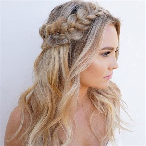 hoco hairstyles pinterest glowy skin bold brows and a textured braided half up