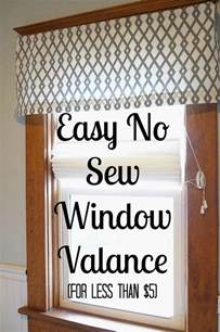 how to sew valances easy diy no sew window valance