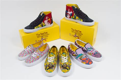beatles sneakers the beatles team with vans for yellow submarine shoes