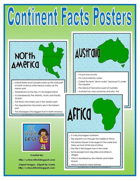 7 Facts On by 17 Best Images About Homeschool Seven Continents On