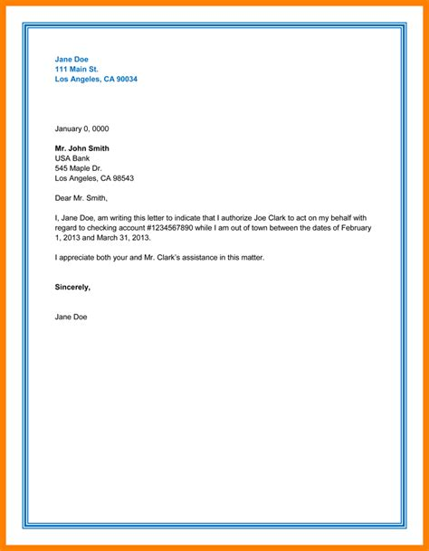 Letter For Bank Statement Through Email 5 Authorization Letter For Bank Statement Dialysis
