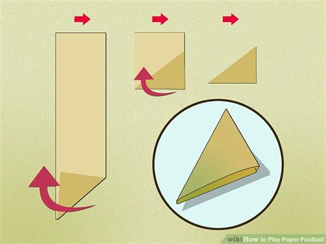 How Make A Paper Football - how to play paper football 9 steps with pictures wikihow