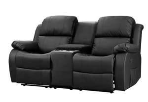 zweisitzer sofa mit relaxfunktion sofa mit tea table lakos 2 sitzer kinosofa in schwarz mit