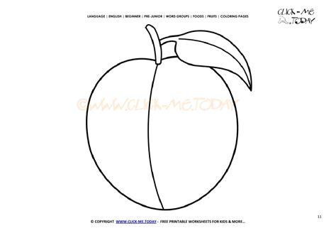 peach coloring page  printable peach cut  template