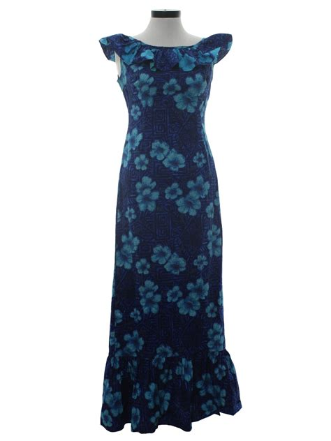 pattern hawaiian dress 60s vintage home sewn hawaiian dress 60s home sewn