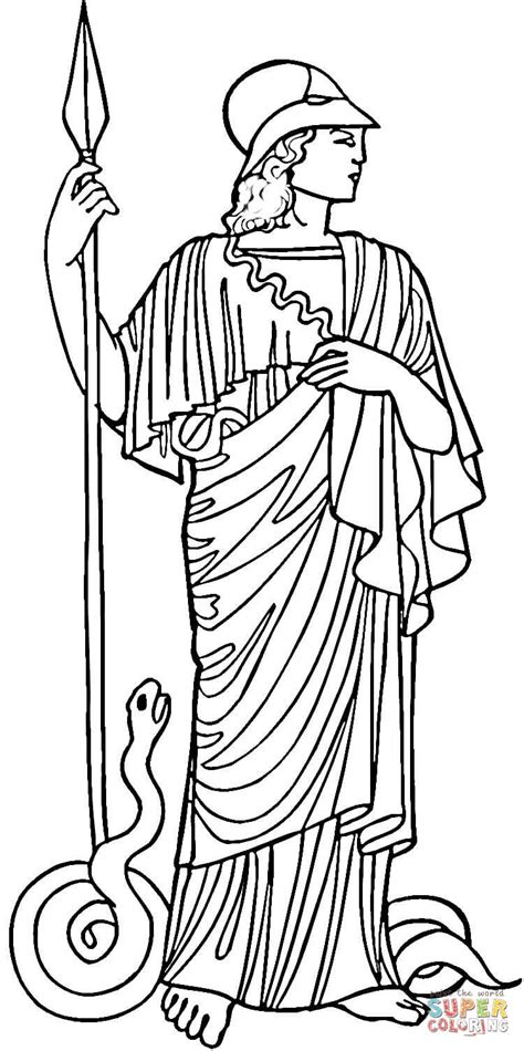 athena coloring page free printable coloring pages