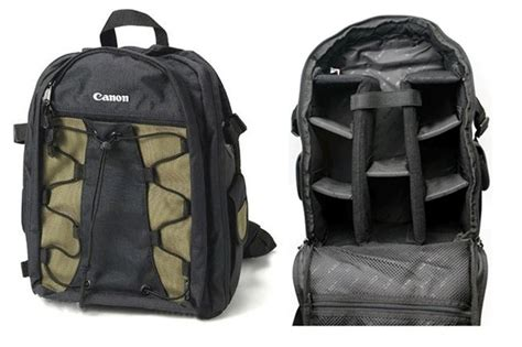 canon deluxe 200eg black green photo backpack only for