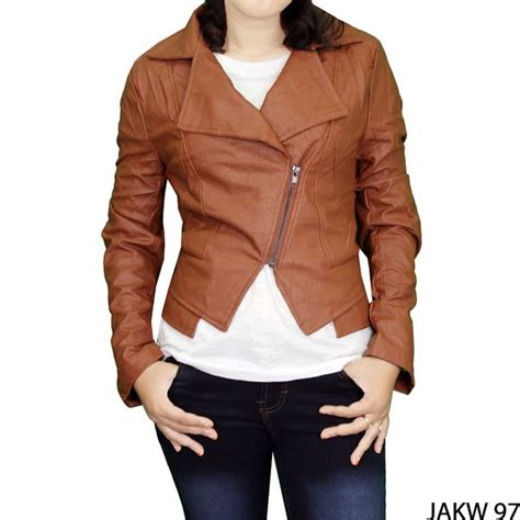 Fashion Wanita 97 jaket wanita casual fabric coklat gudang fashion wanita