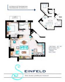 Apartment Floorplans by Detailed Floor Plans Of Tv Show Apartments 171 Twistedsifter