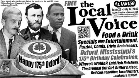 the local voice happy 175th birthday oxford summer the local voice 159 is out now june 28 july 12 2012