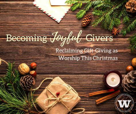 becoming joyful givers reclaiming gift giving as worship