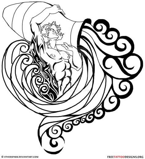 water bearer tattoo designs aquarius design and ideas in 2016 on tattooss net