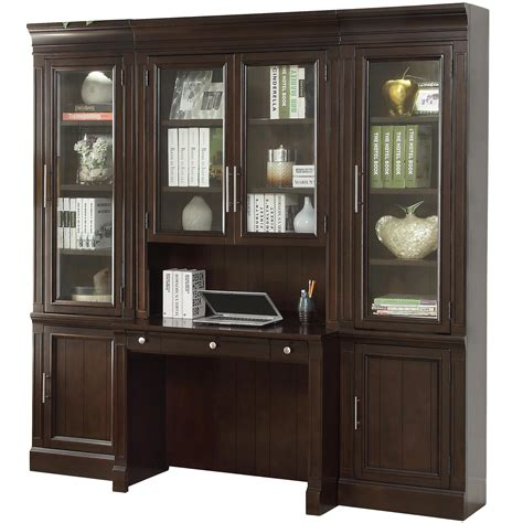 parker house stanford library wall unit  desk
