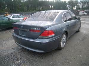 Bmw 745li 2002 Wbagn63462dr00573 Bidding Ended On 2002 Gray Bmw 745li