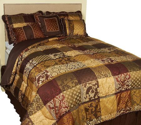 luxembourg comforter set amadeus luxembourg 7 piece comforter set page 1 qvc com