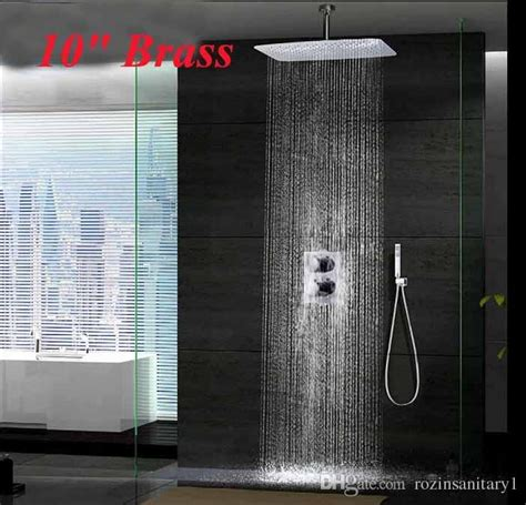 new chrome 10 quot ceiling mounted rainfall shower head