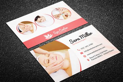 Salon Business Cards Templates Free by Salon Spa Business Card 41 Business Card