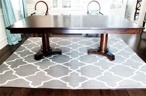 dining room table rug home inspiration