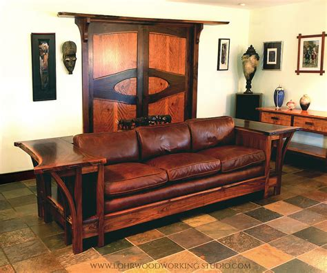 live sofa live edge walnut sofa lohr woodworking studio