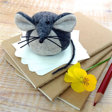 Handmade Mice - handmade collectible mouse paperweight by mirjami design