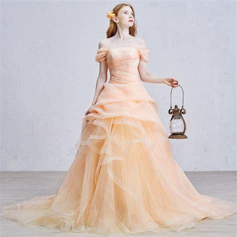 Brautkleid Farben by Tolle Ideen F 252 R Die Hochzeit Brautkleid In Apricot Farbe