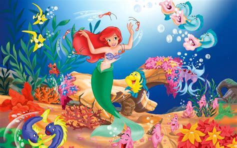 little mermaid disney cartoon fishes hd wallpaper wallpapers photo art wallpaper cartoon the little