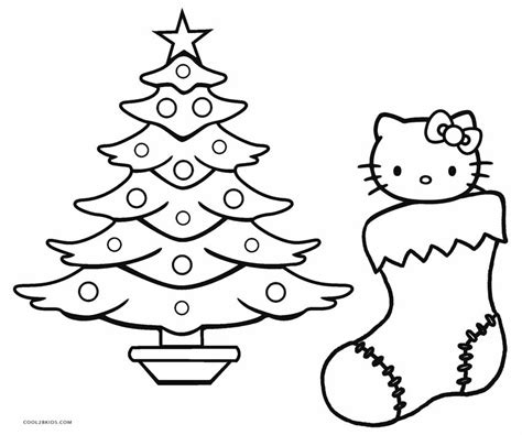 christmas kitty coloring page free printable hello kitty coloring pages for pages