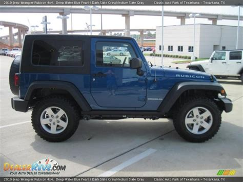 dark blue jeep rubicon 2010 jeep wrangler rubicon 4x4 deep water blue pearl