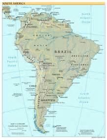 south america map with capitals maps of south america and south american countries