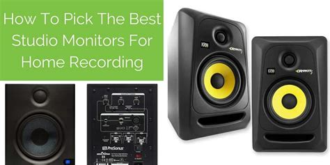 best studio monitors best studio monitors for home recording complete guide