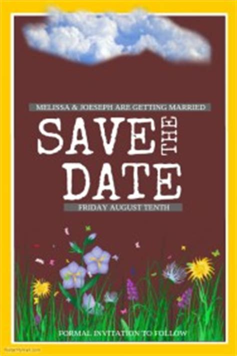 Customizable Design Templates For Save The Date Postermywall Save The Date Poster Template