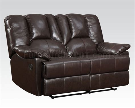 top grain leather reclining sofa 51280 obert reclining sofa top grain leather by acme w options