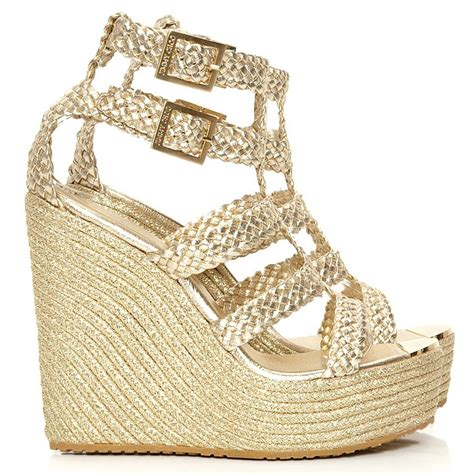 Wedges Gold jimmy choo gold wedges cricket fashion boutique uk
