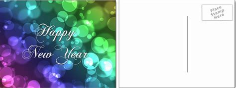 Free Happy New Year Card Templates by Free New Year Postcards Templates Design