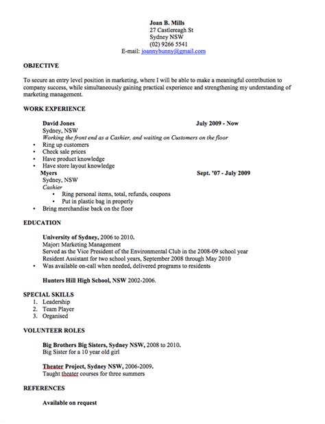 simple resume template au cv template free professional resume templates word open colleges